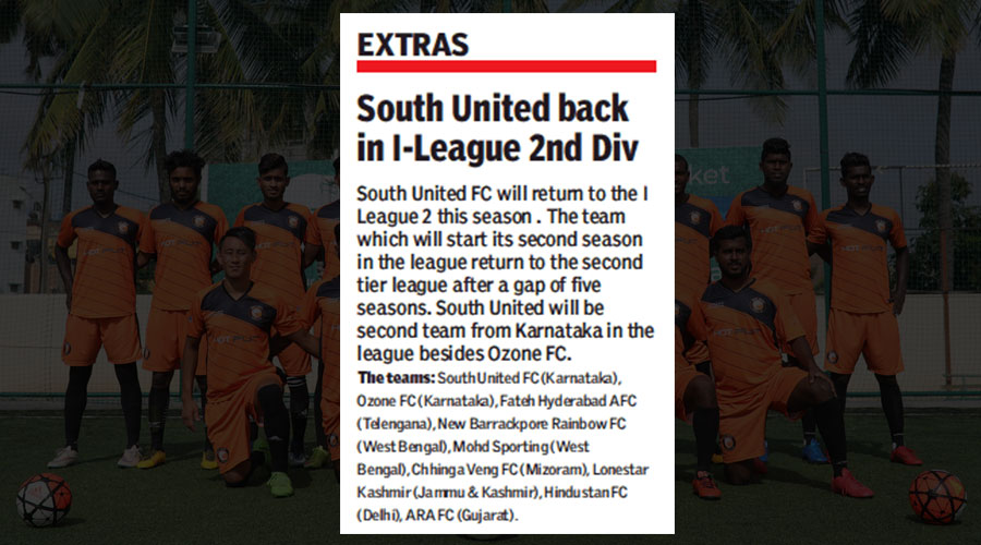 South United Back in I League-2 DIV